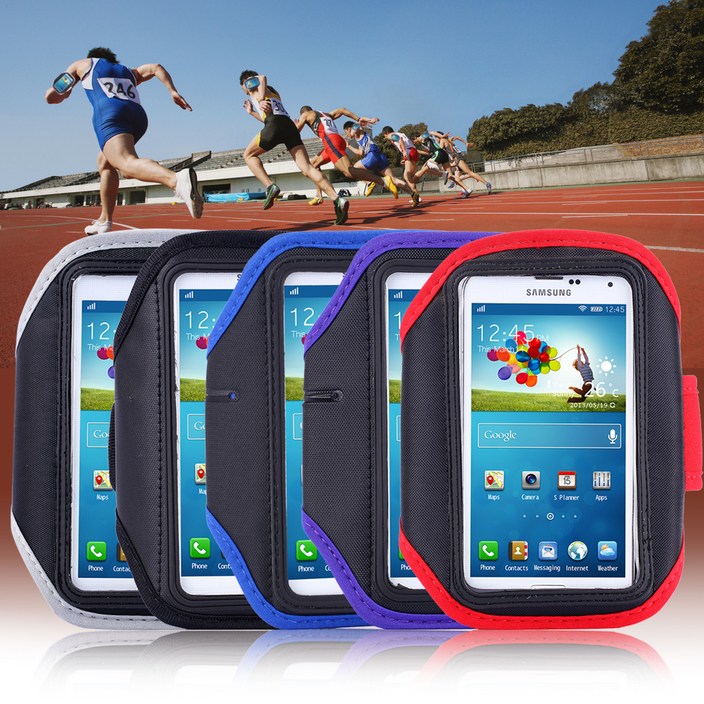Workout Armband Holder Pounch Belt Cover For Samsung Galaxy S3/ S4/ S5 Cell Mobile Phone Sports Running Armband Case sc013