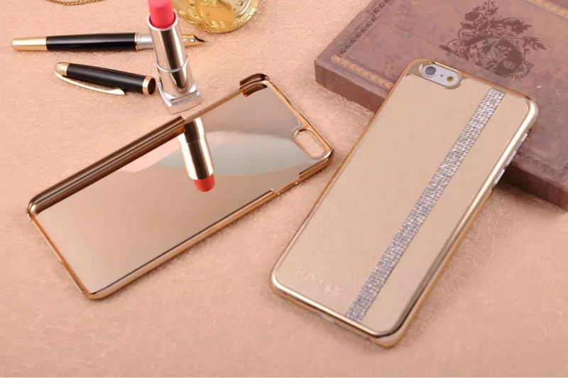 For iPhone 6 / 6 Plus Case Leather Skin Metal Cover Diamond Line Luxury Lady Gift For Apple Ball Date Noble Hotsale(China (Mainland))
