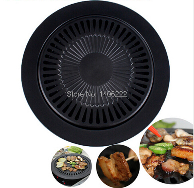 Smokeless Barbeque Grill for Household Gas Stove Indoor Black Stove Top Grill Brazilian Grill Pan Free Shipping(China (Mainland))