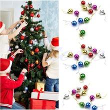 Kvalitní plastové barevné vánoční ozdoby, 12×3 cm