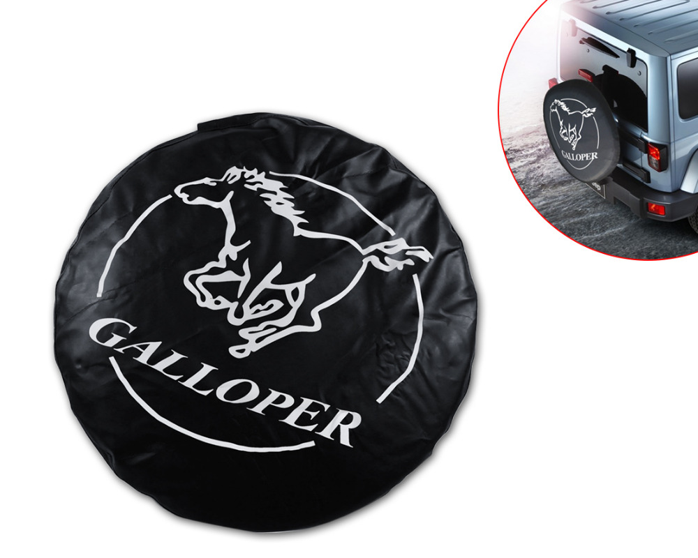 """Faux Leather universal Spare Wheel Tire Tyre Soft Cover 31""""-32"""" Galloper For For VW Polo Golf Rabbit Jetta Nissan Almera Juke(China (Mainland))"""