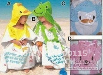 Free shipping  baby bath towel baby bathrobes cute cartoon bathrobe children's bathrobe  10 designs free choose can mix