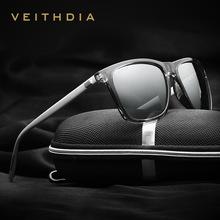 VEITHDIA Brand Unisex Retro Aluminum+TR90 Sunglasses Polarized Lens Vintage Eyewear Accessories Sun Glasses For Men/Women 6108