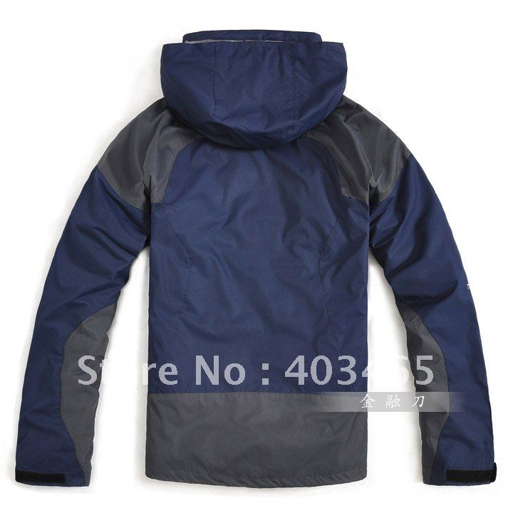 wholesale - free shipping - High quality Waterproof Mesh Lined Hoody Breathable Windbreaker Jacket skiing jackets,dfsdf(China (Mainland))