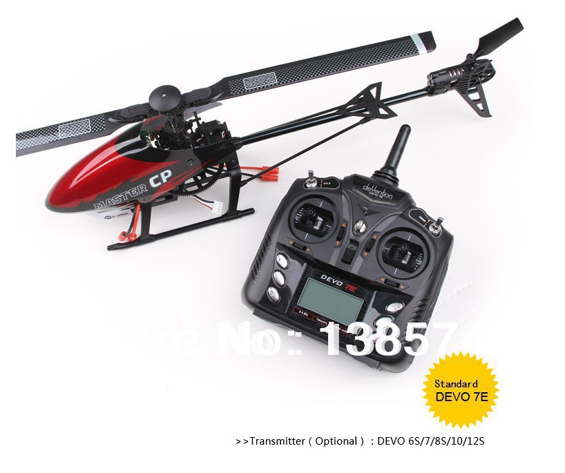 Walkera Master CP helicopter wtih DEVO 7E transmitter 2.4ghz 6ch 3D gyro radio control RTF helicopter Express shipping(China (Mainland))