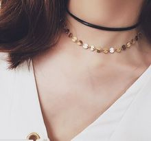 fashion jewelry little round chain link choker necklace gift women girl N1886 - just do my best store
