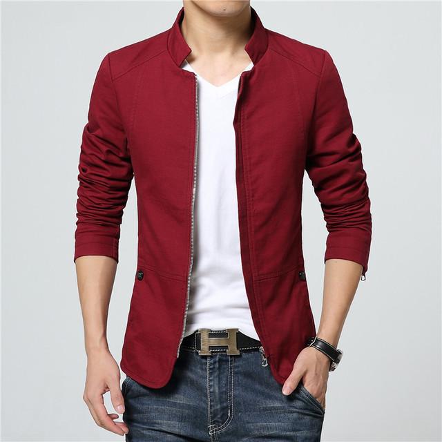Свободного покроя мужчины куртку новое поступление здорово уменьшают подходящую стиль ...