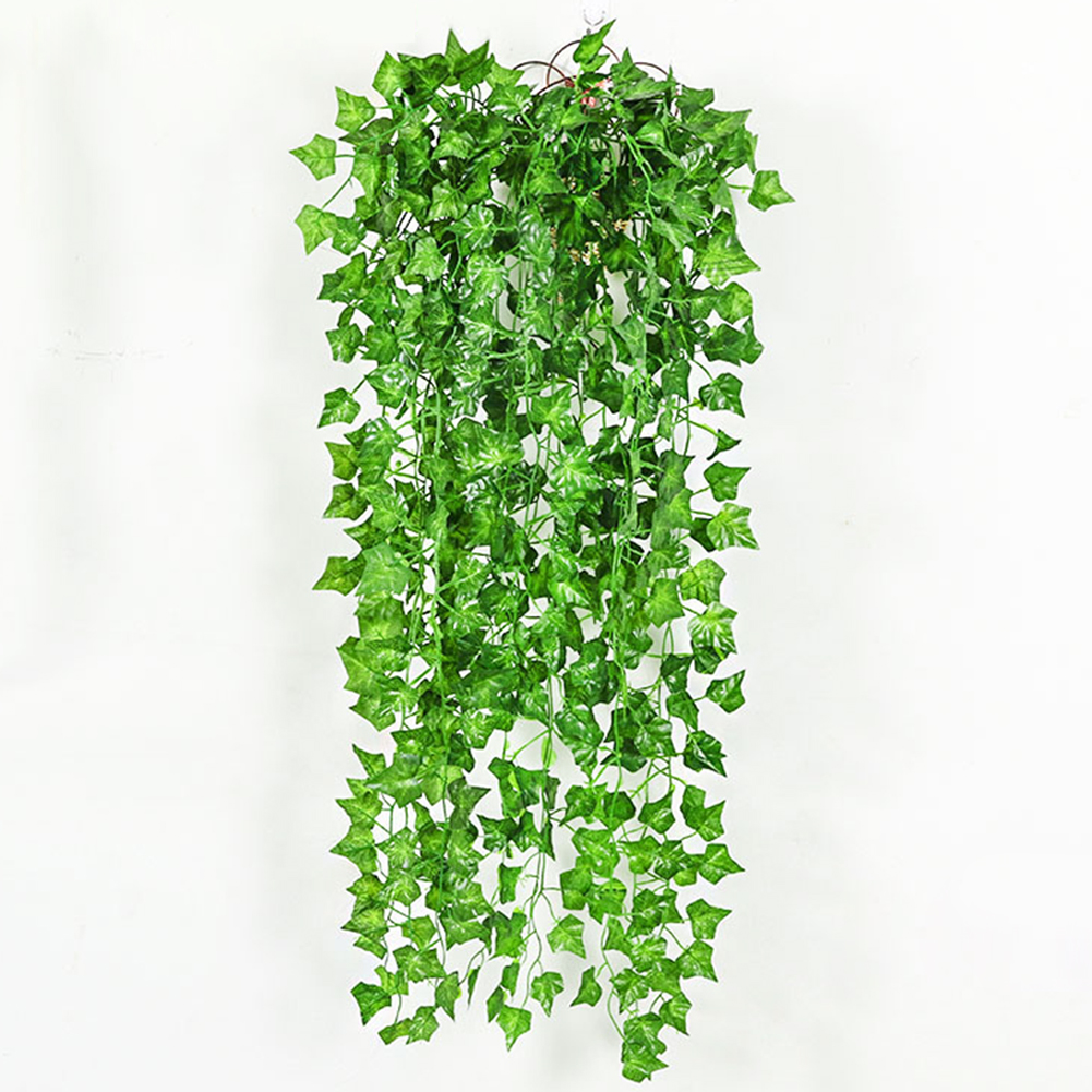 10Pcs 230cm Long Green Large Size Ivy Leaves Artificial Vine Plant Triangle Leaves Fake Foliage Leaves Home Wedding Decoration(China (Mainland))