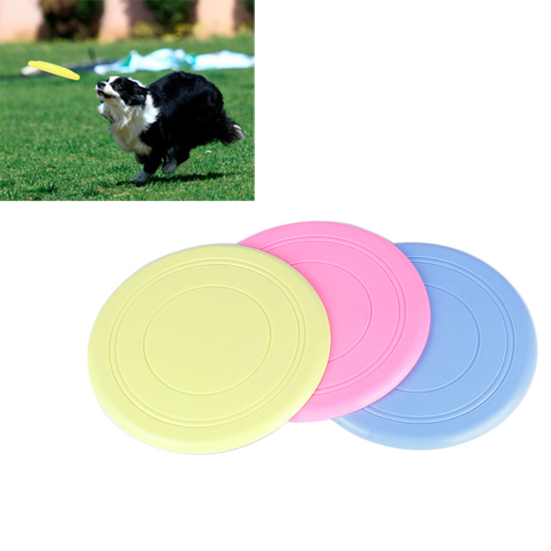 Brand New Safe Funny Pet Toy Dog Flying Disc Soft Frisbee Free Shipping #69703(China (Mainland))
