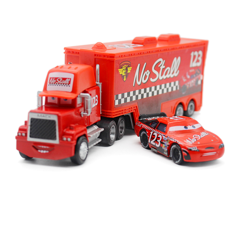 A01-0315 Funny Pixar Cars diecast figure toy Alloy Car Model for kids children Toy race car and Container truck NO.123 2pcs/set(China (Mainland))