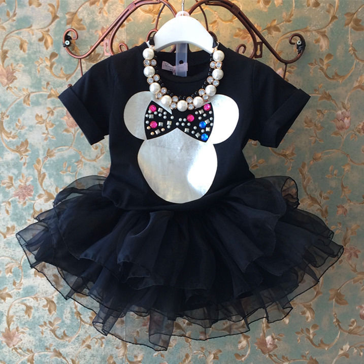 Kids Baby 2015 Girl Lovely Bling Minnie Tops Tutu Layered Tulle Dress Dresses AU<br><br>Aliexpress