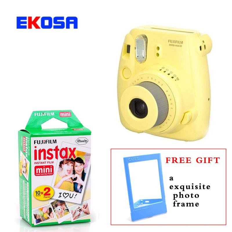 Fuji Mini 8 Camera Fujifilm Fuji Instax Mini 8 Instant Film Photo Camera 5 Colors + 20 Fujifilm mini films 3 inch Photo Paper