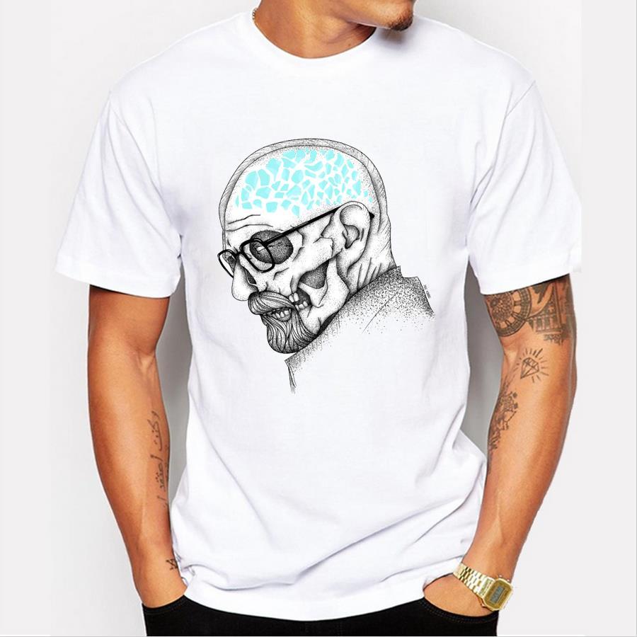 2016 latest men's fashion art design heisenberg printing t-shirt hot sale breaking bad tee shirts Hipster cool tops(China (Mainland))
