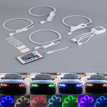 4pcs E36 E38 E39 E46 RGB 4*131MM Multi-Color 5050 Flash LED Car ANGEL EYES Headlight Rings kit for BMW hot selling(China (Mainland))