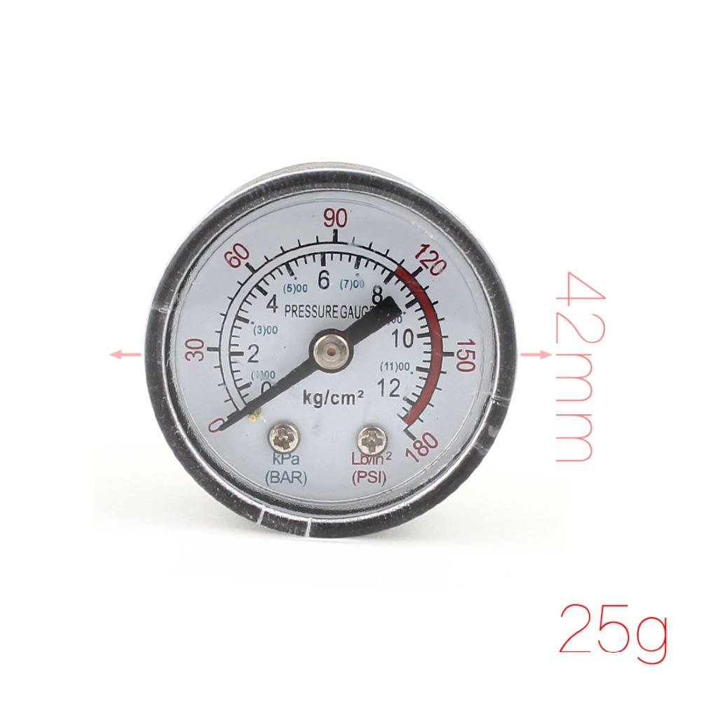 10mm Male Threaded Dia 0-180 PSI Pneumatic Air Gas Pressure Gauge(China (Mainland))