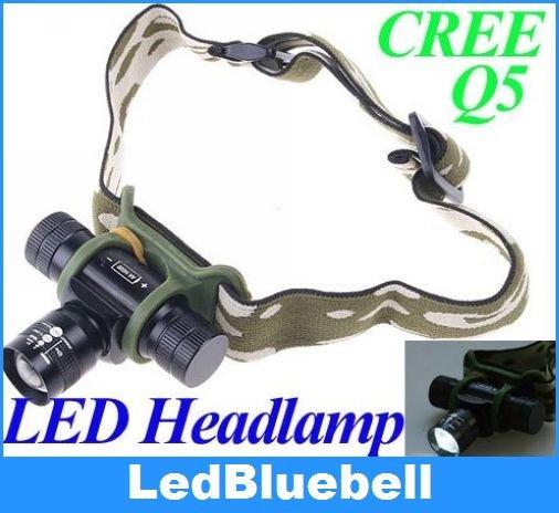 Adjustable Focus Beam CREE Q5 LED Headlamp led headlight torch+ Carry Bag+Charging Stand(China (Mainland))