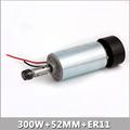 0 3KW 52MM ER11 cnc Spindle Motor 300W Spindle Motor DIY DC 12 48 CNC 300w