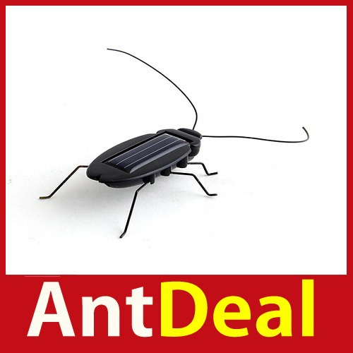 Wonderful! antdeal Solar Power Energy Black Cockroach Bug Toy Children 24 hours dispatch New fashional(China (Mainland))