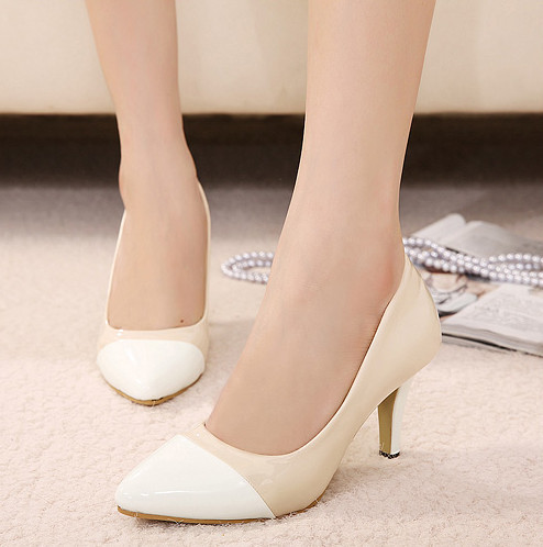 women pumps 2015 Fashion wedding shoes white bridal shoes comfortable high heels shoes party heels(China (Mainland))