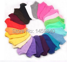 10 Pairs Candy Color Women Short Ankle Boat Low Cut Dress Sport Socks Crew Casual Cotton Blend Sock