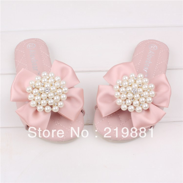 Wholesale ! New high-quality flower girls fashion slippers, baby shoes  10 pair/lot   ZYL02 <br><br>Aliexpress