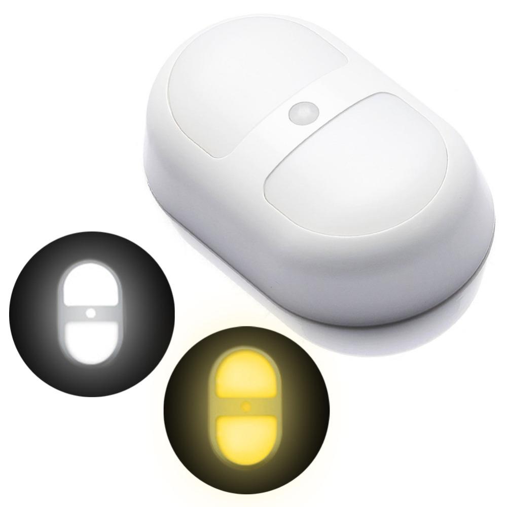 GoesWell Bedroom Decoration Motion Sensor LED Night Light Battery Powered Wall Path Lamp Perfect for Bathroom Basement Laundry(China (Mainland))