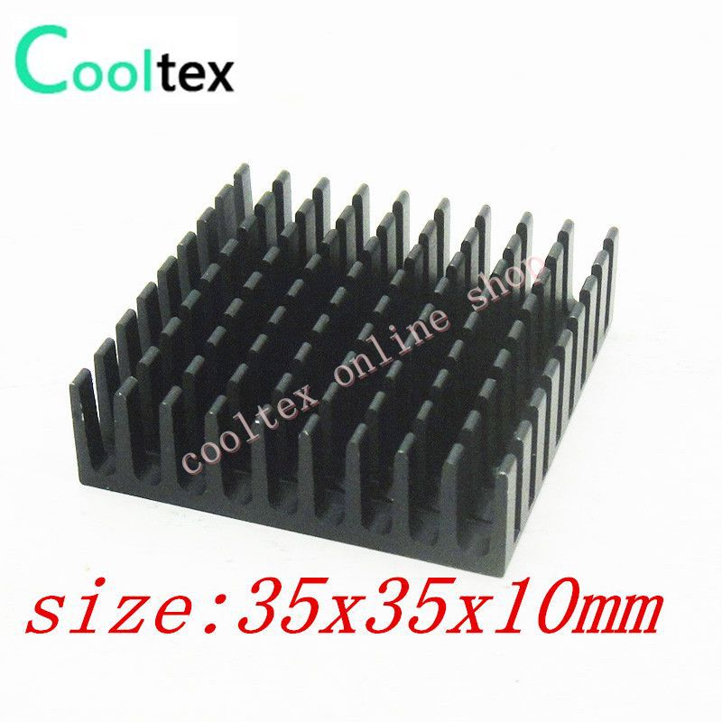 100pcs 35x35x10mm  Aluminum HeatSink,radiator,Chip CPU GPU VGA RAM LED IC Heat Sink,COOLER