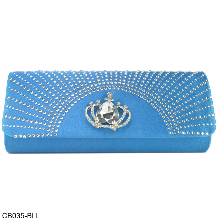 Wholesale crown Ladies Satin Party Club Clutch Purse Bag Wedding Bridal Evening Handbag Wallet Chain(China (Mainland))