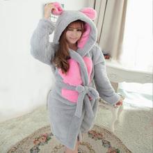 cosplay women Bathrobe robe cartoon pajamas nightgown hooded robe bathrobe leisurewear  flannel winter thick(China (Mainland))