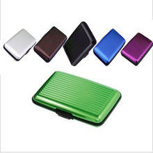 1 pc Waterproof Business ID Credit Card Wallet Holder Aluminum Metal Case Box Free Shipping