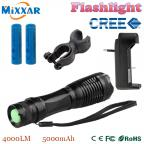 zk50 CREE XM-L2  4500LM lumens LED Flashlight Zoomable T6 LED torch lantern Super Bright Waterproof flashlight