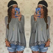 One Piece New Cotton Women Long Sleeve Loose Knitted Knitwear Casual Outwear Blouse Wholesale and retail + Free Shipping