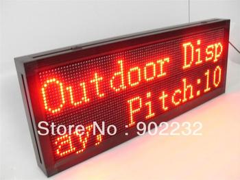 Remote keyboard,wireless control,32*96pixels,P10mm message sign,outdoor aluminum frame,single red color led sign,free&fast ship,