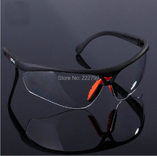 Impact resistant polycarbonate protective glasses goggles Dust storm cycling dustproof glasses safety work free shipping(China (Mainland))