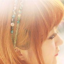 1 PC Hot Fashion Women Lady Girls Rhinestone Crystal Headband Delicate Glitter Hairband Headwear Hair Band Accessories 7 Colors(China (Mainland))
