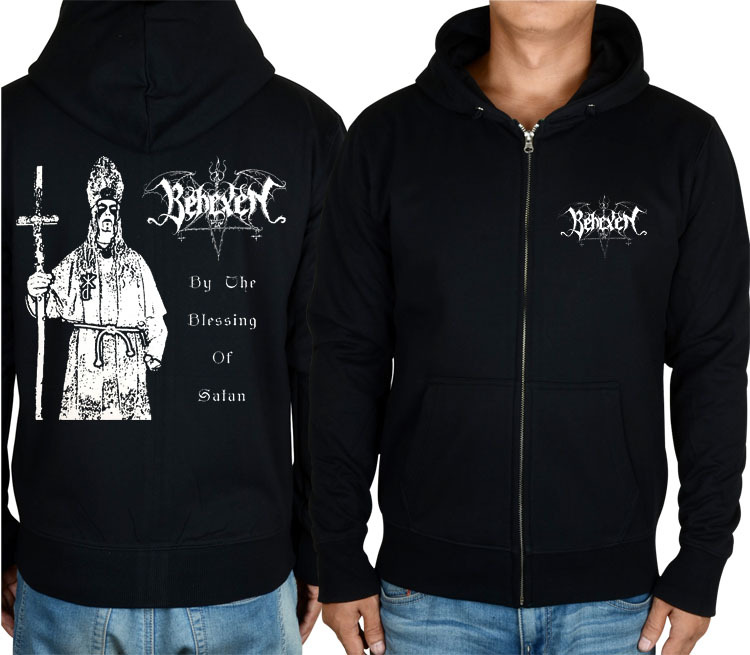 Free shipping  behexen By the Blessing of Satan black metal Men In Black musicTop HoodieОдежда и ак�е��уары<br><br><br>Aliexpress