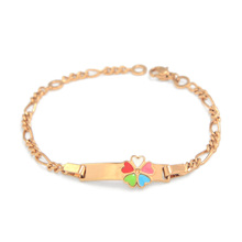 145mm Cute Girls Bracelets Baby Jewelry Gift Heart Bracelet Gold Chain Bracelets & Bangles Enfants Pulsera Bebe Bracelete BR29M2(China (Mainland))