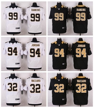 New Orleans Saints #99 Sheldon Rankins #94 Cameron Jordan #32 Kenny Vaccaro Elite White and Black Team Color free shipping(China (Mainland))