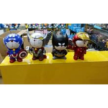 DC Comics Marvel America Anime iron Man Captain America Thor Batman Doraemon Cosplay Action Figure Toys 16cm Collecte Model 0379