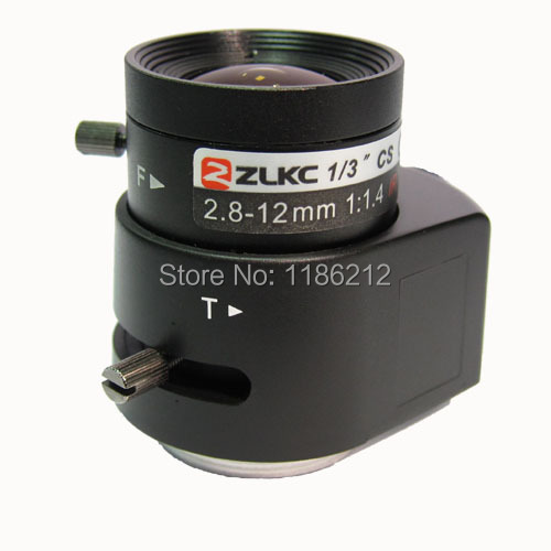 "2 megapixel HD CCTV lens 2.8-12mm, 1/3"" Varifocal Auto Iris Lens ,lens for CCTV Surveillance cameras(China (Mainland))"