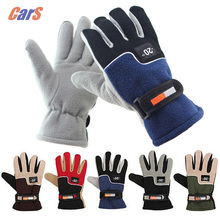 Windproof Car Gloves Motorcycle Gloves Men Women Winter Fingers Separated Polar Fleece Thermal Motorcycle Ski Snow Glove 5 Color