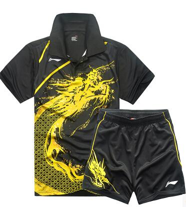 Hot Li Ning badminton table tennis men's clothes short sleeve T-shirt , men's shirt(China (Mainland))
