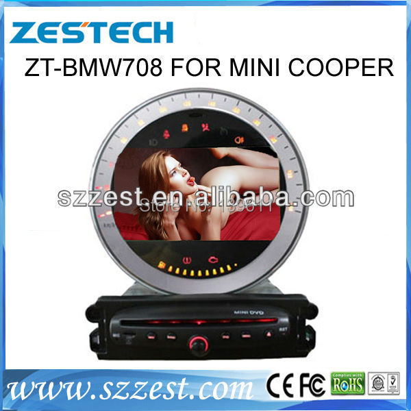 "ZESTECH audio player Ipod dvd gps 7"" car audio mini cooper car audio player(China (Mainland))"