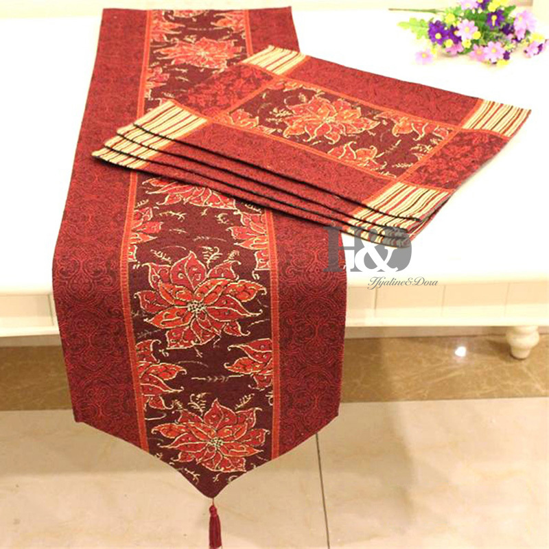 Wedding Bed Table Runner Hotel Tablecloth Placemat Dining Mat Table