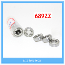 50 PCS High quality 689Z 689ZZ 9*17*5mm thin deep groove ball bearing 9x17x5mm with Deep Groove Bearing for 3D printer part