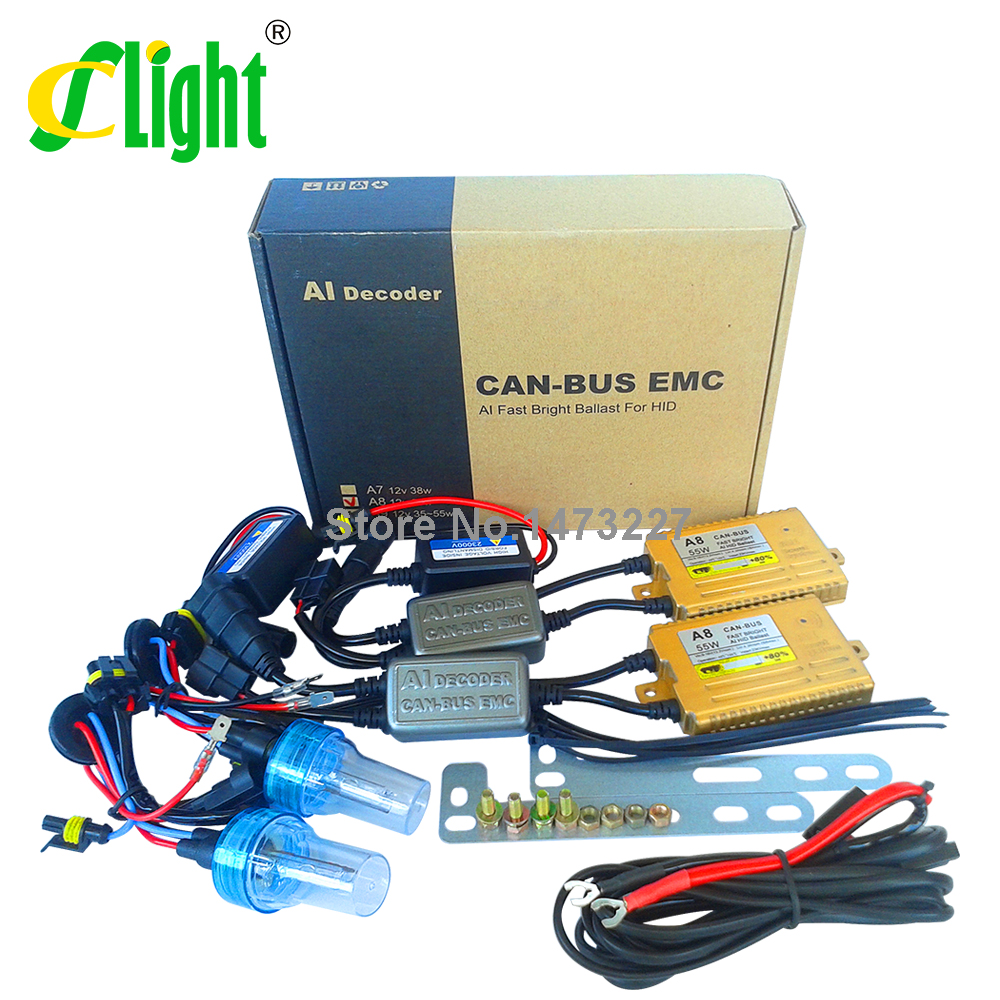 Фотография Car Xenon HID kit Canbus 12V55W Fast Start Fast Bright Replacement Conversion A8 Error Warning Free For Auto Xenon Light Source