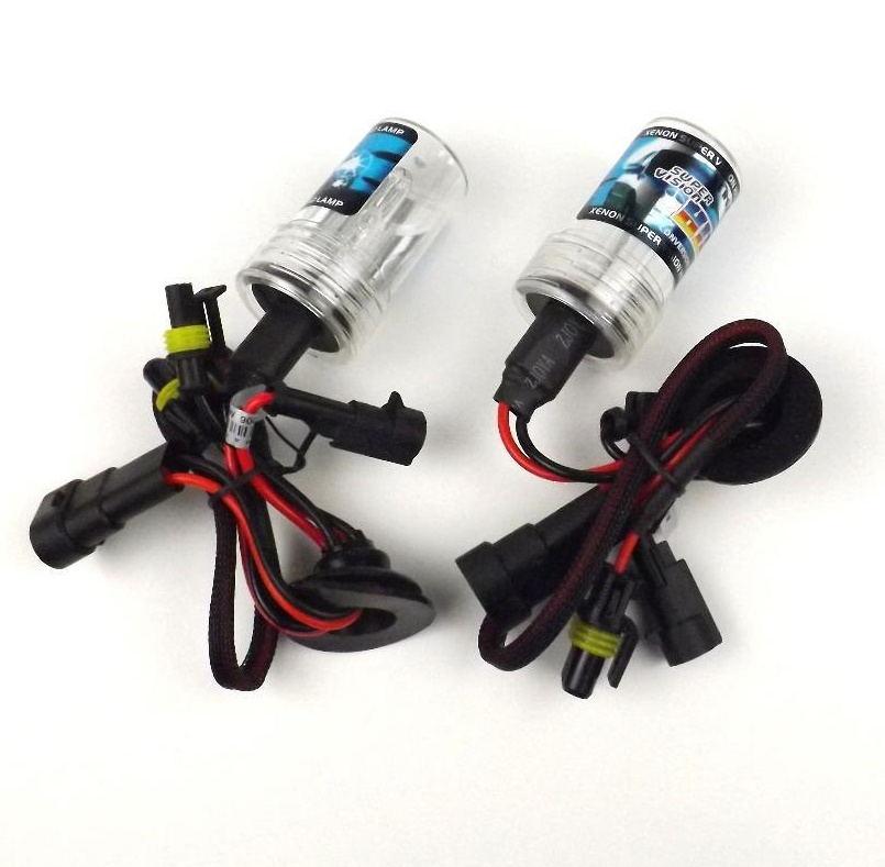 Car Styling 1 Pair 12V 55W HID Xenon Headlight Lamp Replacement Light Bulb Globes Fog Light H1 H4 H7 4300K 6000K 8000K(China (Mainland))