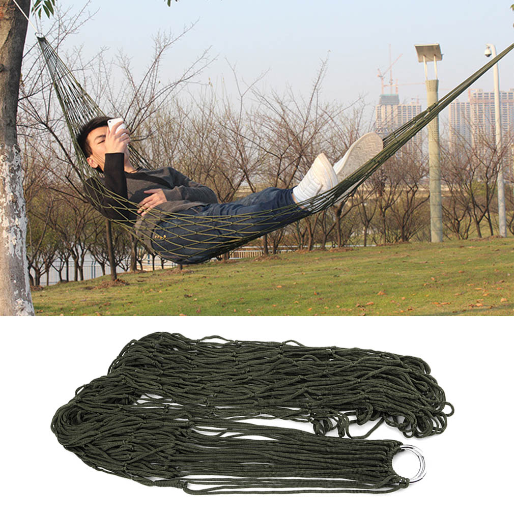 1Pc sleeping hammock hamaca hamac Portable Garden Outdoor Camping Travel furniture Mesh Hammock swing Sleeping Bed Nylon HangNet(China (Mainland))
