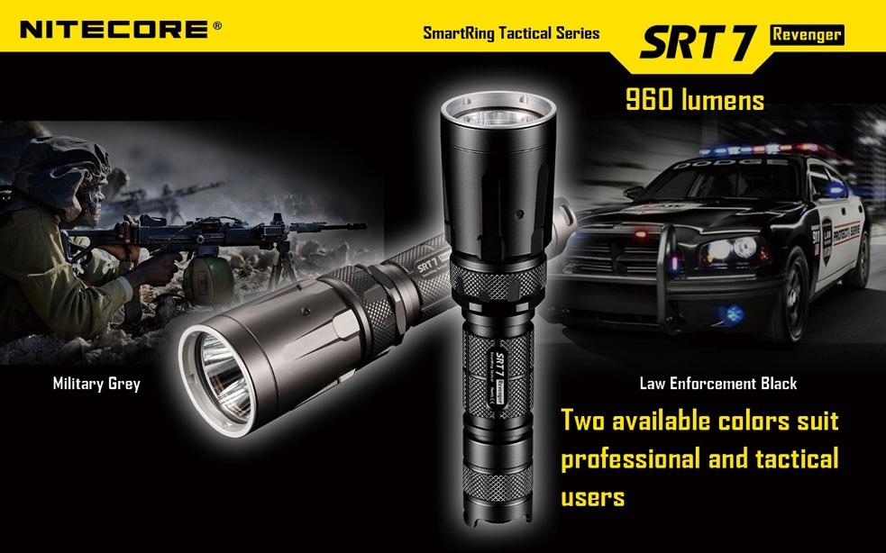 Free Shipping 1PC Nitecore SRT7 Black/Gray Flashlight Smart Selector Ring Waterproof Rescue Search Torch
