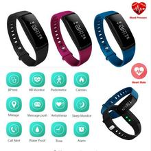 Buy V07 Blood Pressure Smart Wristband Pedometer Smart Bracelet Heart Rate Monitor Smartband Bluetooth Fitness Android IOS Phone for $30.60 in AliExpress store